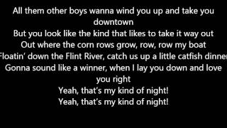 Luke Bryan - That's My Kind Of Night Lyrics