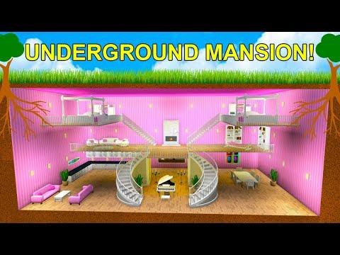 I Built A Huge Underground  Secret Mansion! (Roblox)