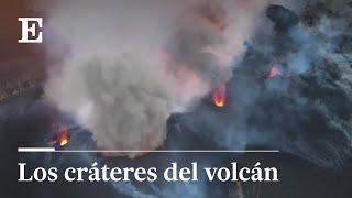 Los centros de emisión del volcán, en detalle