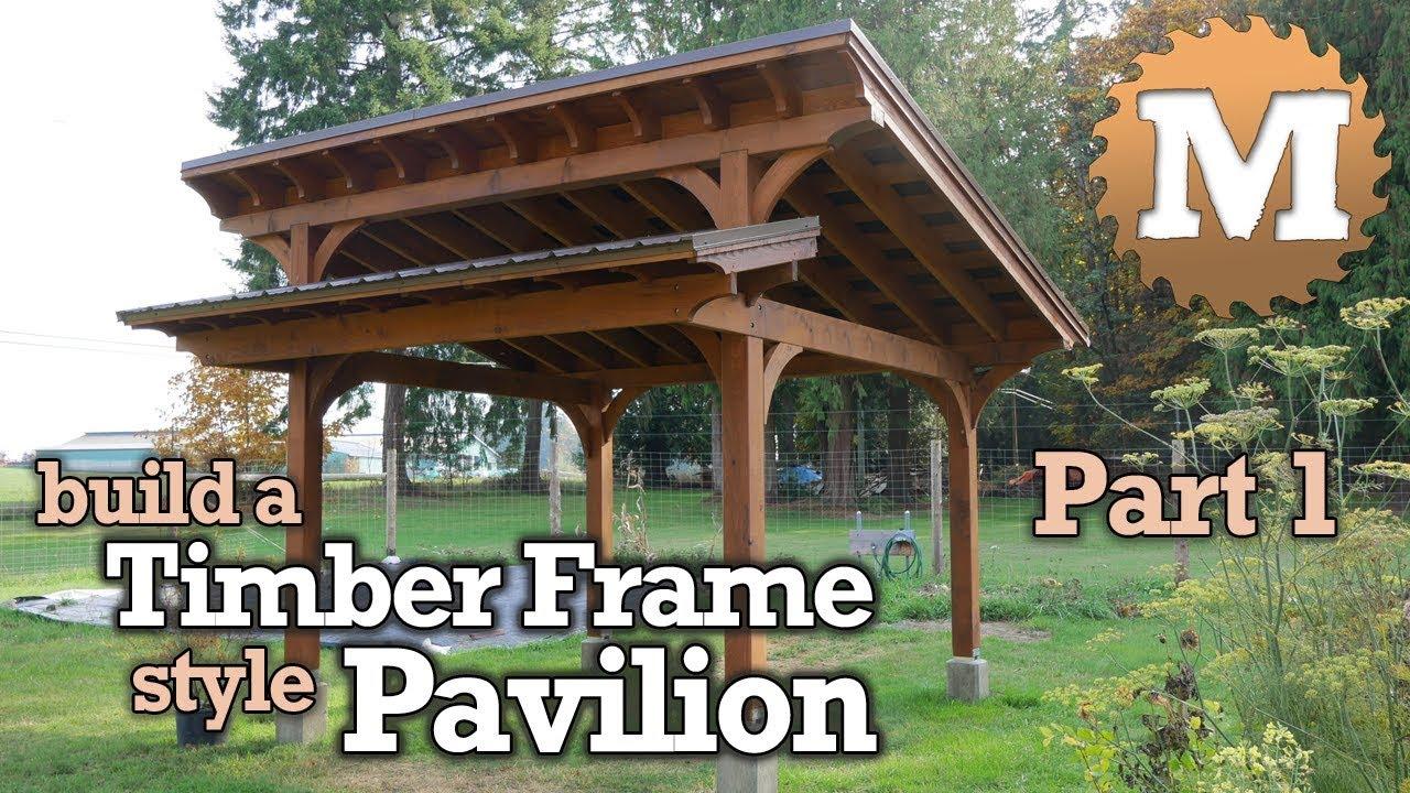timber frame style pavilion gazebo for