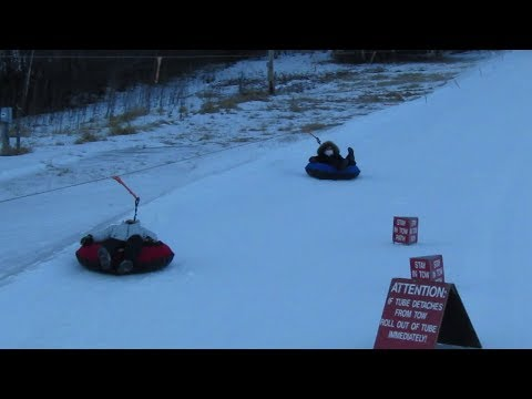 Optical Illusion Snowtubing Gunstock Mountain January 2018