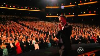 aaron paul wins an emmy for breaking bad at the 2012 primetime emmy awards
