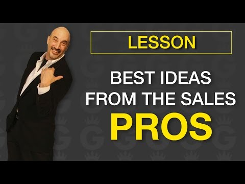 Best Sales Ideas from Sales Pros | Sales Training