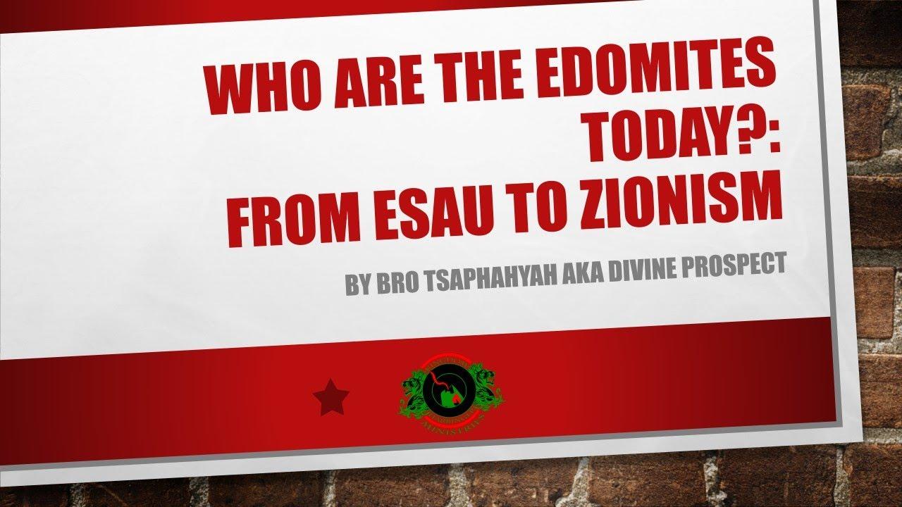 Edomites Today