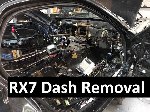 rx7 dash removal wide body v8 fd rx7 build video series 8 youtube. Black Bedroom Furniture Sets. Home Design Ideas