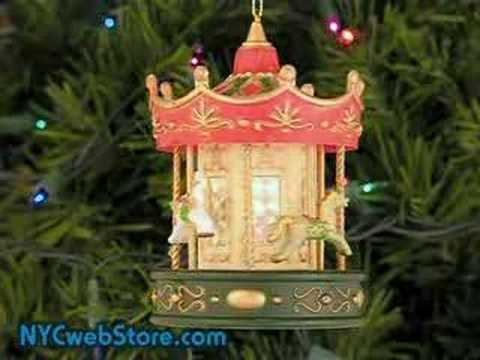 musical carousel christmas ornament youtube