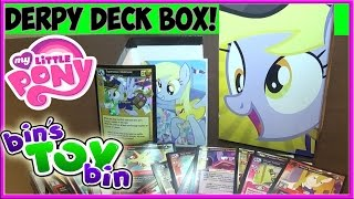 My Little Pony Derpy Equestrian Mailmare Collectible Card Game Deck Box! Opening by Bin's Toy Bin