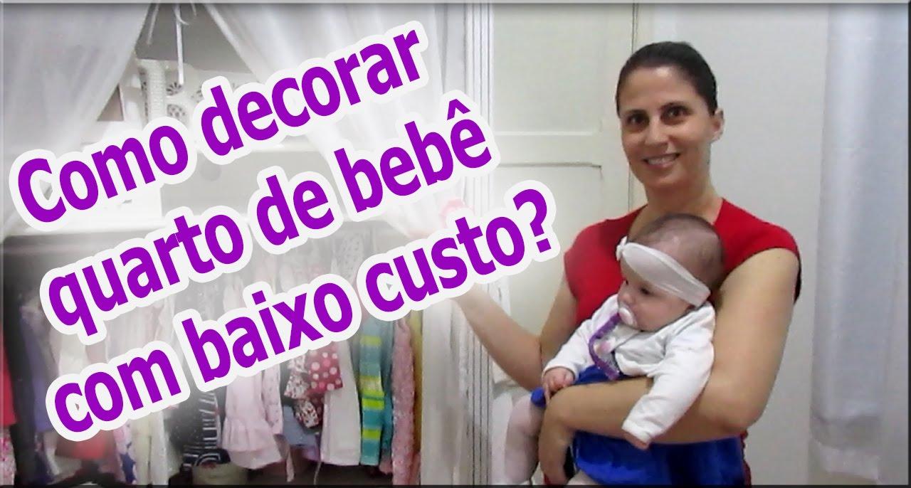 Como decorar quarto de beb u00ea com baixo custo? (DIY) #dicasdaangi YouTube -> Decorar Quarto De Bebe Simples