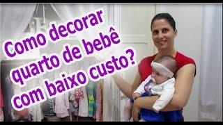 Como decorar quarto de bebê com baixo custo? (DIY) #dicasdaangi