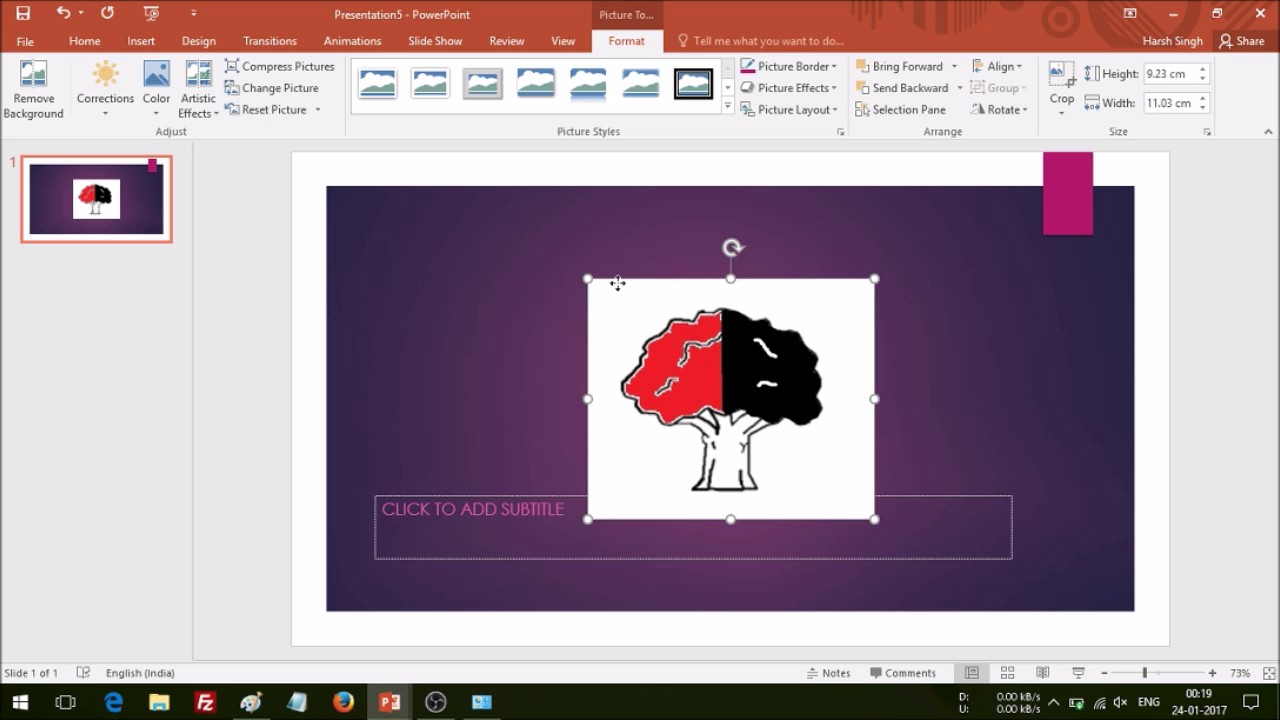 How to make a transparent logo in ms paint