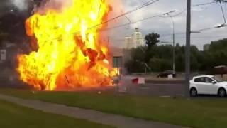 Взрыв Газели на Каширском шоссе Москва Car Blast in Moscow 13 07 12 Аварии ДТП