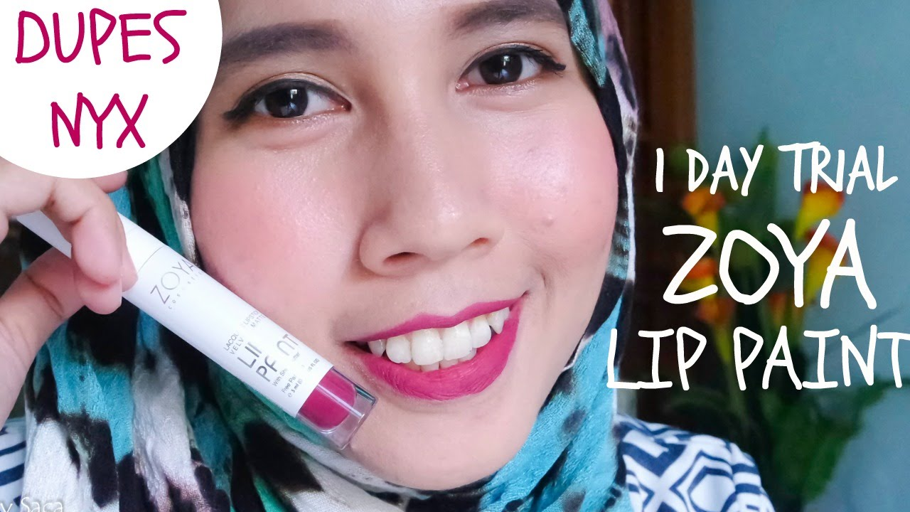 Zoya Lip Paint Lipstick One Day Trial 2 Youtube