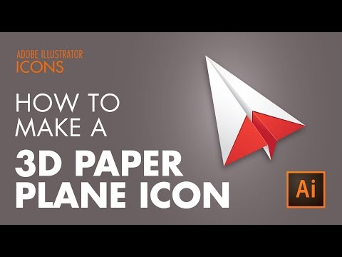 How To Create a 3D Paper Airplane in Adobe Illustrator