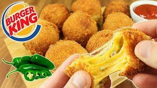 Chili CHEESE Bites estilo BURGER KING !!! (Bolitas de QUESO con Jalapeños CASERAS)