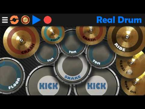 Don't let me down -chainsmokers (drum cover in real drums app Android).