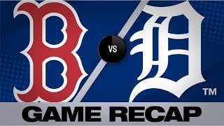 Red Sox power through rain delay, win 9-6 | Red Sox-Tigers Game Highlights 7/5/19