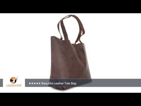 LEABAGS Honolulu genuine buffalo leather shopper bag in vintage style | Review/Test