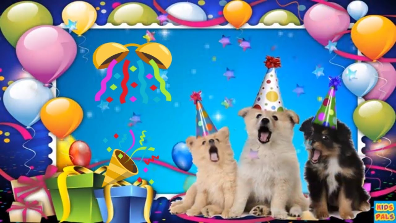 Happy Birthday Wishes From Cute Dogs Funny Dogs Birthday Wishes Youtube