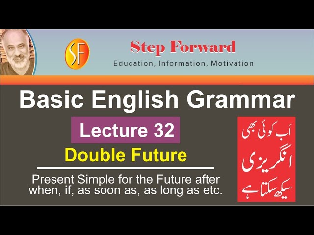 Basic English Grammar |Lecture 32 |Present Simple for the Future after when, if etc| Naeem Sulehri