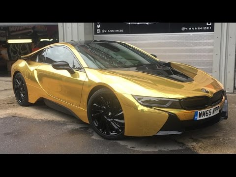 Master Ov Gets His Car Wrapped Gold Youtube