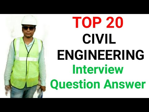 Civil engineering interview question answer for fresher