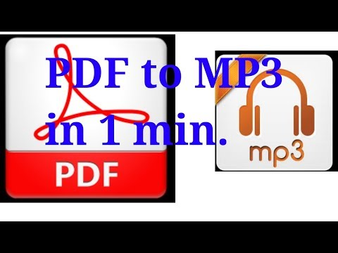 How to convert PDF file to mp3 online without any app