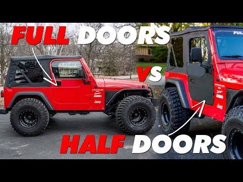 Jeep Tj Half Doors Vs Full Doors Youtube