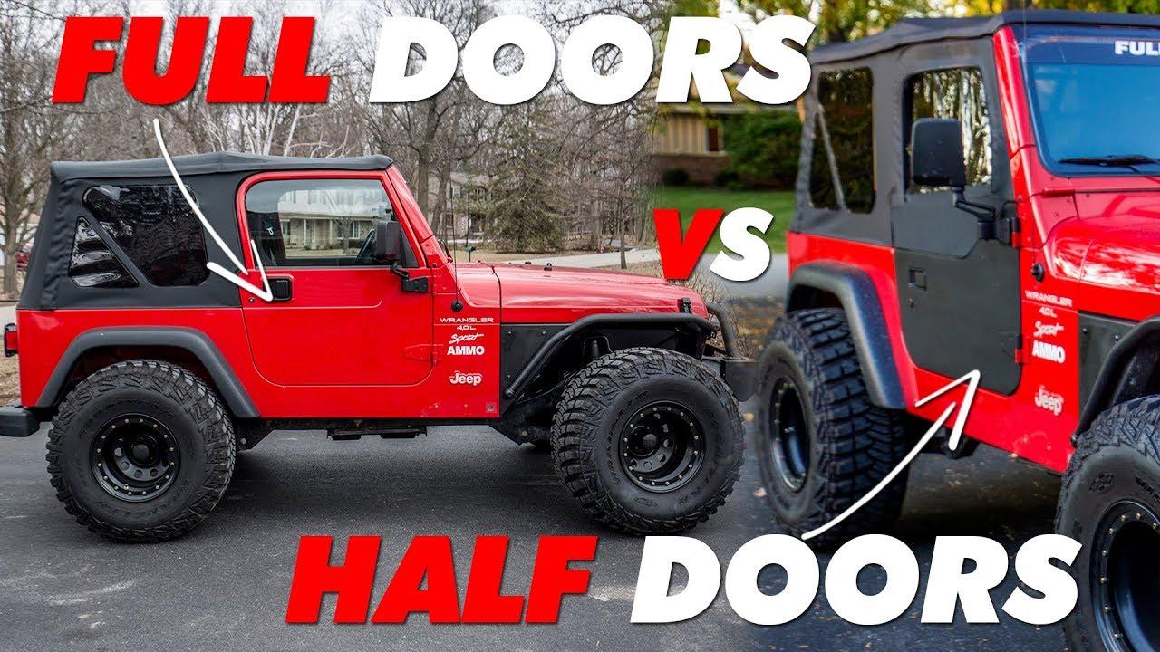 Red Jeep Tj Half Doors