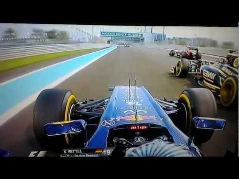 Vettel's Overtakes show in Abu Dhabi - 2012