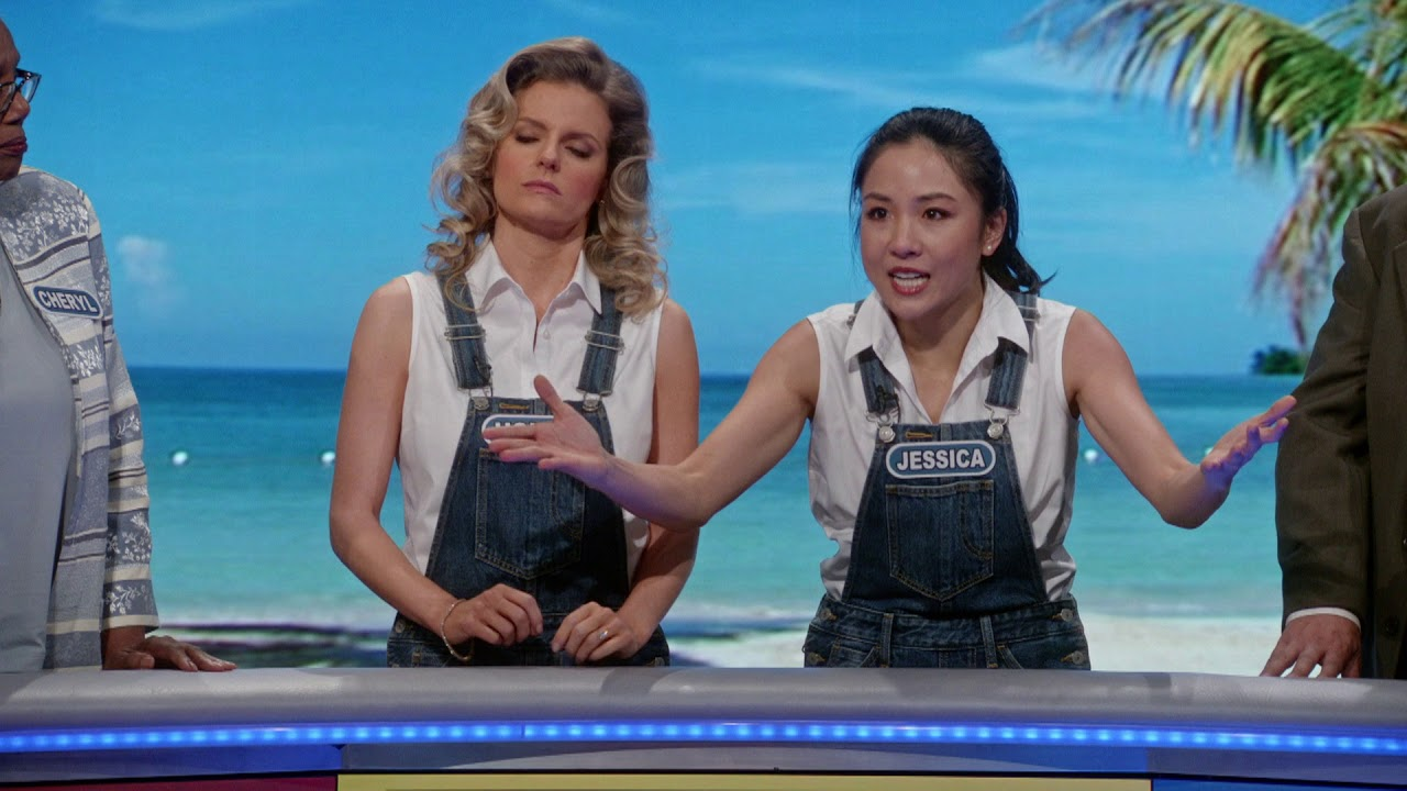 jessica and honey compete on wheel of fortune fresh off the boat