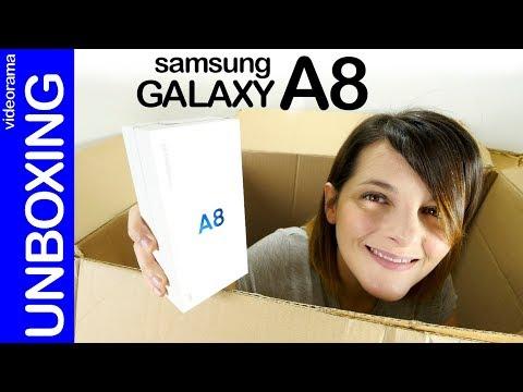 Samsung Galaxy A8 unboxing -con dualcam para SELFIES- 📷 📲 📸