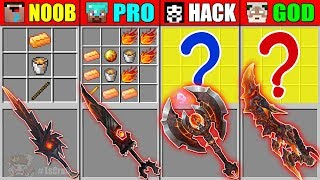 Minecraft NOOB vs PRO vs HACKER vs GOD MUTANT LAVA SWORD CRAFTING CHALLENGE in Minecraft Animation