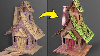DIY Fairy House Using Cardboard