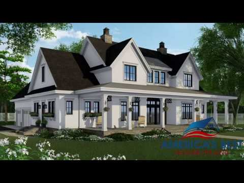 MODERN FARMHOUSE PLAN 098-00316 WITH INTERIOR