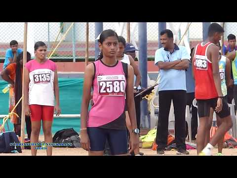 GIRLS U17  100m  RUN FINAL. 60Th TAMIL NADU STATE REPUBLIC DAY SPORTS MEET  - 2017-18