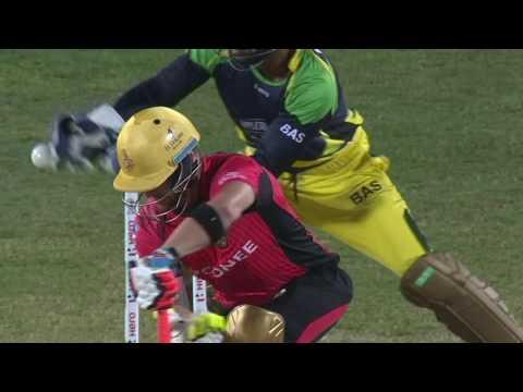 Wasim bamboozles McCullum Imad Wasim already gave McCullum a warning shot, but Brendon didn't listen and Wasim makes no mistake second time