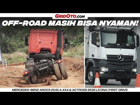 Nyobain Truk Canggih Mercedes-Benz Arocs 2545 A 4x4 & Actross 2636 LS DNA 6x2   First Drive