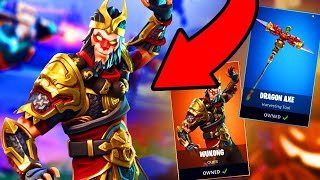 NEW WUKONG SKIN AND DRAGON AXE !!!!!! FORTNITE BATTLE ROYALE