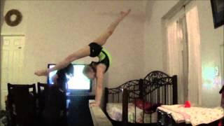 chloe harvey gymnastics flexible beam mounts at home
