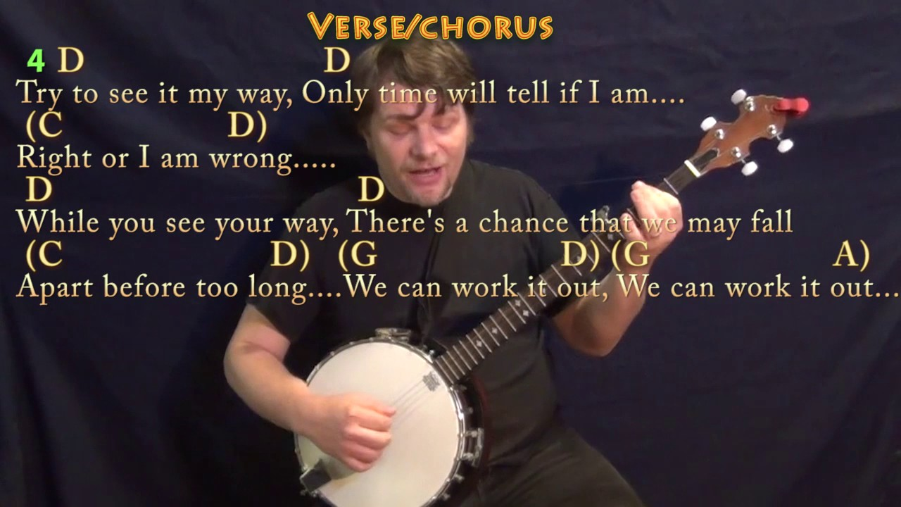 We Can Work It Out (The Beatles) Banjo Cover Lesson with