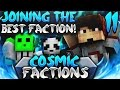 JOINING THE BEST FACTION!   Minecraft FACTIONS #11 (CosmicPvP Ice Planet)