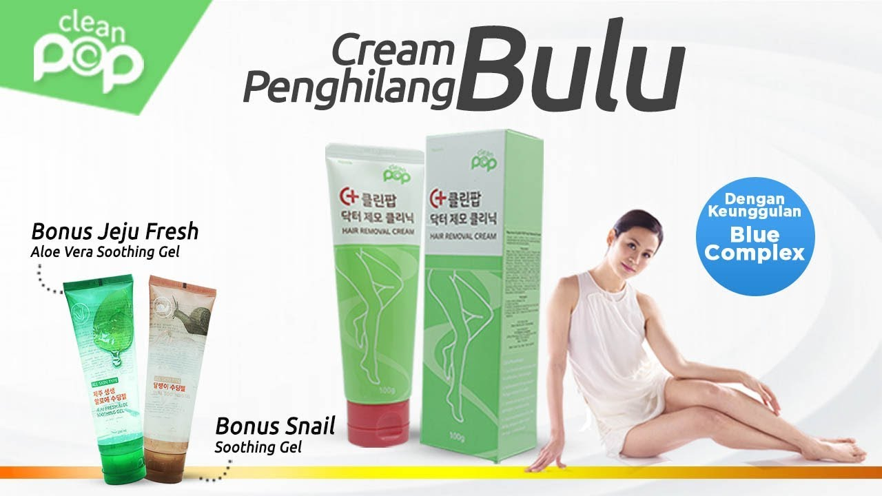 Clean Pop Hair Removal Cream Krim Perontok Bulu