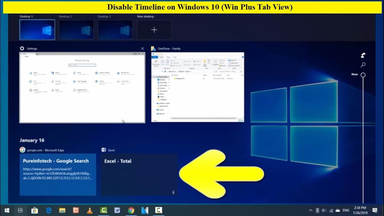 How to Disable Timeline on Windows 10 (Win Plus Tab View)
