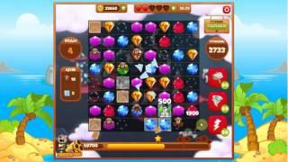 сокровища пиратов 2733         уровень прохождение - Pirate treasures level2733        walkthrough