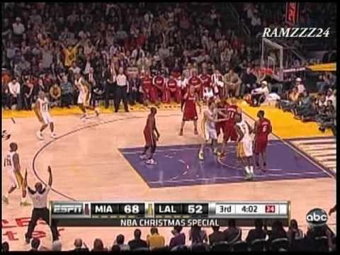 Heat vs Lakers Highlights 12/25/10 *Christmas Day *Kobe vs Heat's Big Three
