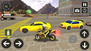 Çizgi Film - Şehirde Yarış - Motorsiklet oyunu - Sports bike simulator Drift 3D