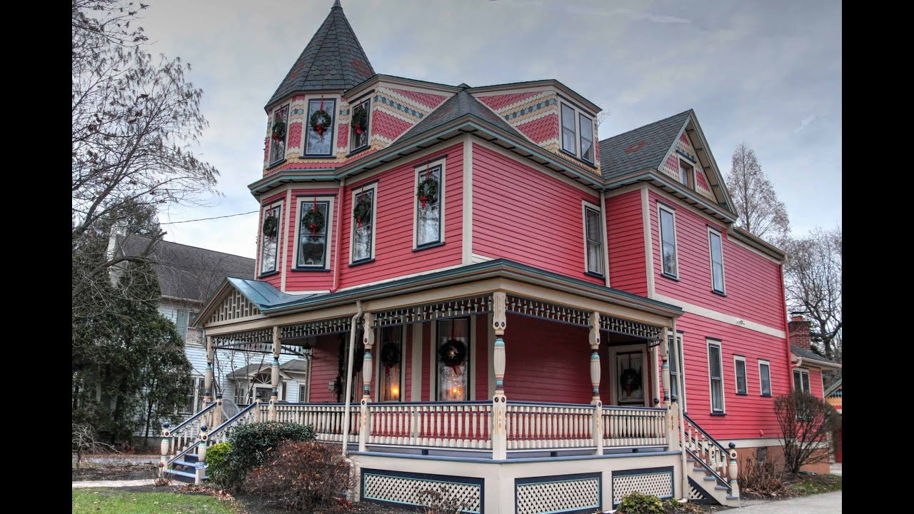 Haddonfield queen anne victorian restoration youtube for Queen anne victorian house