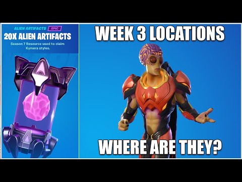 Fortnite, Where Are The Week 3 Alien Artifacts? (Chapter 2 Season 7)