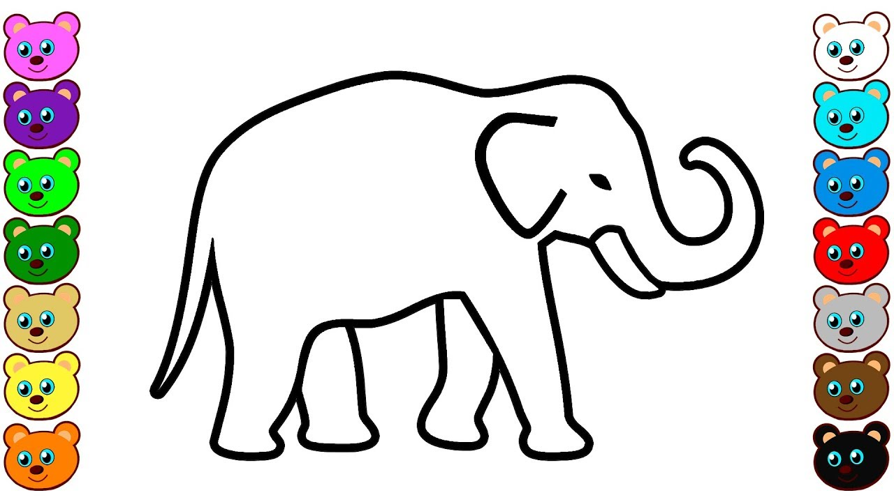 Indian Elephant Coloring Pages - YouTube
