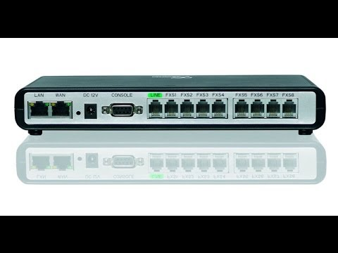How to Program and Install Grandstream GXW-4008, SIP to FXS VoIP Gateway with Hunt Group